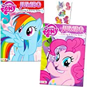 My Little Pony Coloring Book Super Set With Stickers (2 Jumbo Books And Sticker Pack Featuring Rainbow Dash, Fluttershy...