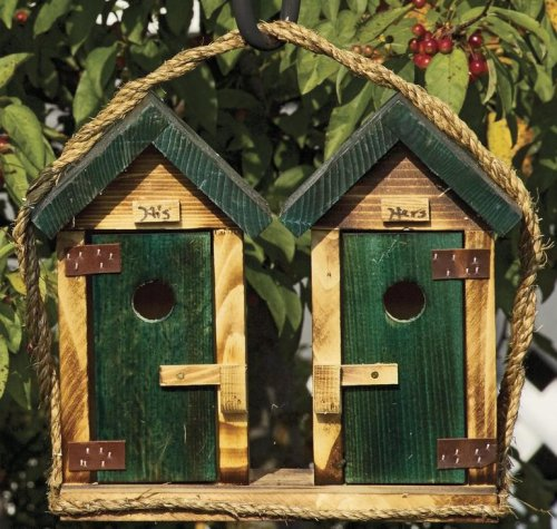 His & Hers Outhouse Birdhouse
