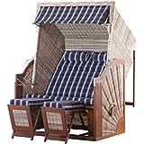 Strandkorb Trendy by deVries Pure Classic XL SUN PE Seashell - Dessin 415 inkl. Strandkorb Schutzhülle *NEUHEIT* INNEN UND AUSSEN DURCHGEFLOCHTEN