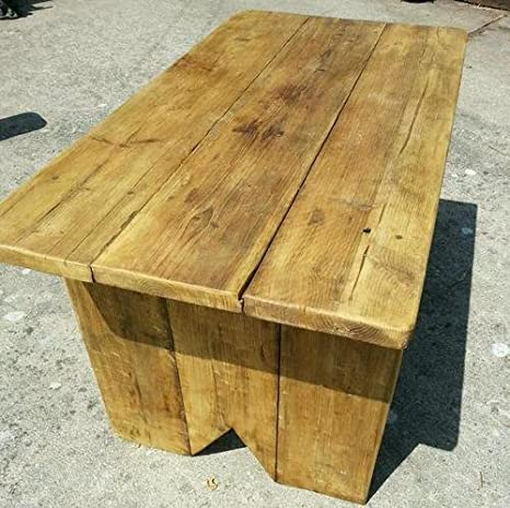 Rustic Wooden Dining Table 4 foot heavy quality more sizes available