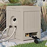 Suncast Hose Reel Crate. Best Water Powered Hideaway For Flexible Water Pipe. Self Winding Holder w/ Guide. Perfect For Garden, Yard, Backyard, Patio, Poolside, Lawn Cleaning & Car Wash. Space saver