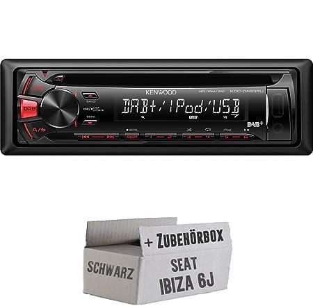 SEAT IBIZA 6J Noir-Kenwood-dab35u-Kit de montage autoradio CD/MP3/USB avec DAB -