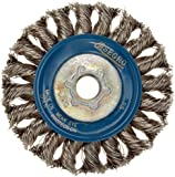 Norton Wire Wheel Brush, Threaded Hole, Stainless Steel, Full Twist Knotted