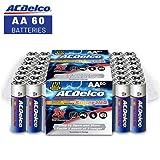 ACDelco AA Batteries, Alkaline Battery, 60 Count (Tamaño: 60-Count)