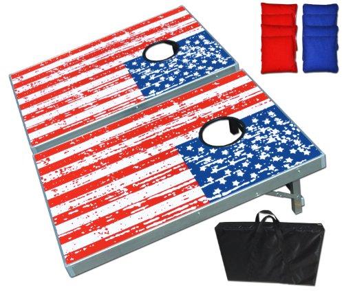 Gosports American Flag Cornhole Bean Bag Toss Game Set 8