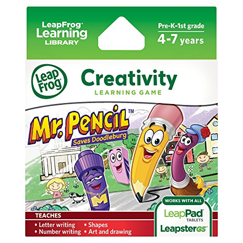 LeapFrog Mr. Pencil Saves Doodleburg Learning Game (works with LeapPad Tablets and LeapsterGS) - 1