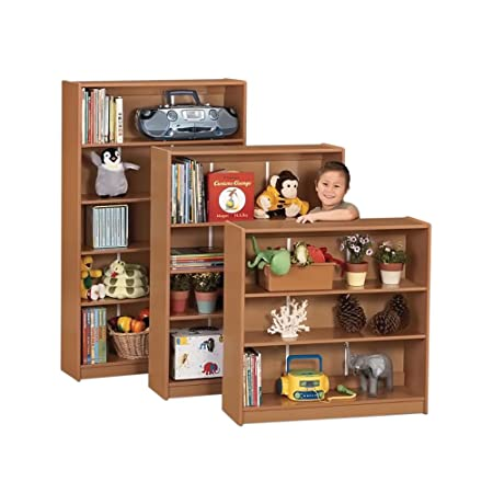 "Sproutz Play School Home Multipurpose Kids Storage Organizers Furniture Décor Accessories Bookcase - 48"" High - Caramel"