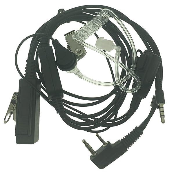 2 PIN Earpiece Headset For KENWOOD BAOFENG UV5R 888S PUXING WOUXUN HYT TYT Cyan