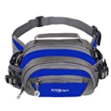 ENGYEN Waist Bag,Fanny Pack,Waist Pack,Adjustable Strap,Adjustable Water Bottle Holder,Outdoor,Sports,Jogging,Walking,Hiking,Cycling,Carrying iPhone 7 8 Plus X,Men,Women (Blue) (Color: blue)