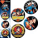 "Licenses Products DC Comics Superman Action Assorted Artworks 1.25"" Button Set, 4-Piece"
