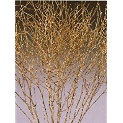 Green Floral Crafts Winter Cress Gold Sparkle - 21 Tall