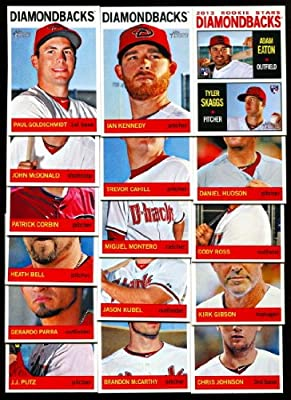 2013 Arizona Diamondbacks Topps Heritage Baseball Complete Mint 15 Basic Card Team Set