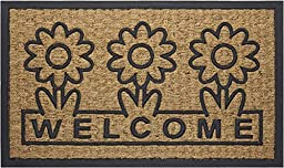 Achim Home Furnishings COM1830DS6 Daisy Coco Door Mat, 18 by 30\