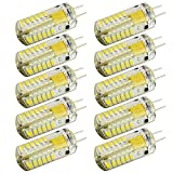 ArlyMama 10 Pack (10 Pcs/lot) G4 Type 48 LED Lights Bulb Lamps 3 Watt Halogen Bulbs AC DC 12V Cool White Undimmable 3014 Emitter Quivalent to 30W Incandescent Bulb Replacement