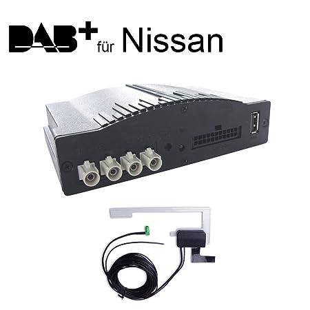 DAB + Radio numérique Interface pour Nissan 370z, Evalia, Juke, Note E12, Qashqai J10 avec connexion Plug & Play à la Radio d'origine - Affichage RDS et commande au volant - iCarDAB - le simple DAB + extension