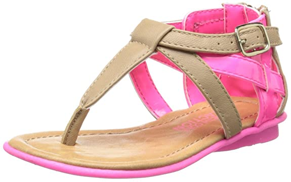 Girls' Name Brand Kenneth Cole Reaction Keep Heart 2 Gladiator Sandal Discount Sale Multicolor Pack
