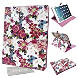 LOVE MY CASE / Stylish White & Pink Floral Butterfly Case, Cover For Apple iPad Air 2 with LMC Cloth