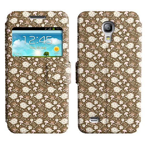 Axen Scratchproof Pu Leather Stand Case Cover Samsung Galaxy S4 Mini ( Teas And Kettles )