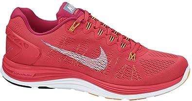Nike Women's Lunarglide+ 5 Running Shoes-Laser Crimson-8.5