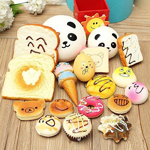 15PCS Jumbo Medium Mini Squishy Bread Scented Panda Toast Donuts Cone Turtle (Slow Rise Spray Foam compare prices)
