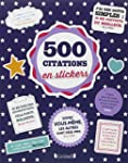 500 stickers Citations