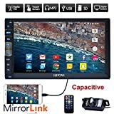 New Brand Upgarde Version 7 Inch Capacitive Touch Screen Audio (Mirror Link for GPS Android Phone) Double 2 Din Bluetooth Car Stereo In Dash Video Auto radio Without DVD Player+Rear View Camera
