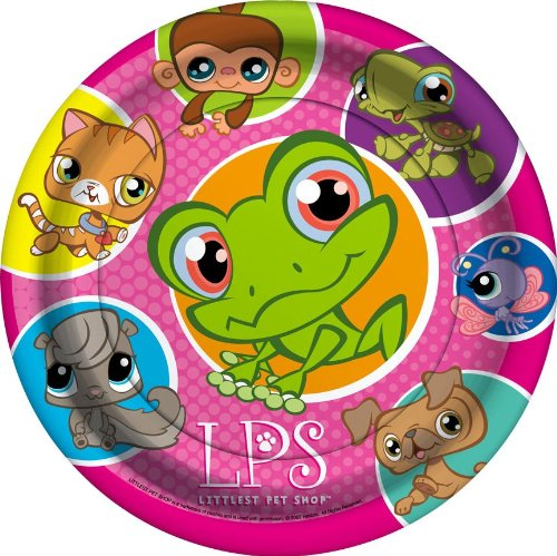 Littlest Pet Shop Lunch Plates 8ct - 1