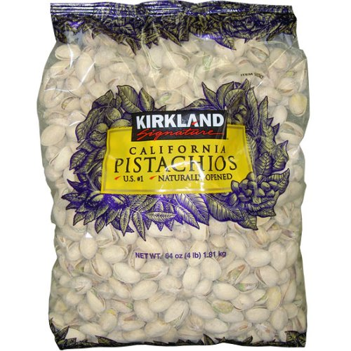 Kirkland Signature California Pistachios, Naturally Opened