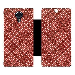 Skintice Designer Flip Cover with hi-res printed Vinyl sticker wrap-around for Micromax Canvas Xpress 2 E313