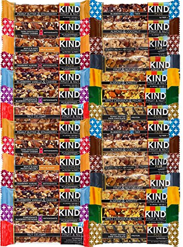 KIND Healthy Fruit & Nut & Plus Snacks Bars, (Count 28) Variety Pack of 14 Flavors with Almond, Blueberry, Peanut Butter, Dark Chocolate and other (Kind Bars Yogurt And Apricot compare prices)