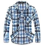 (ラロリオン)RAROLION ギンガムチェック ネルシャツ 長袖 メンズ(青 XL)