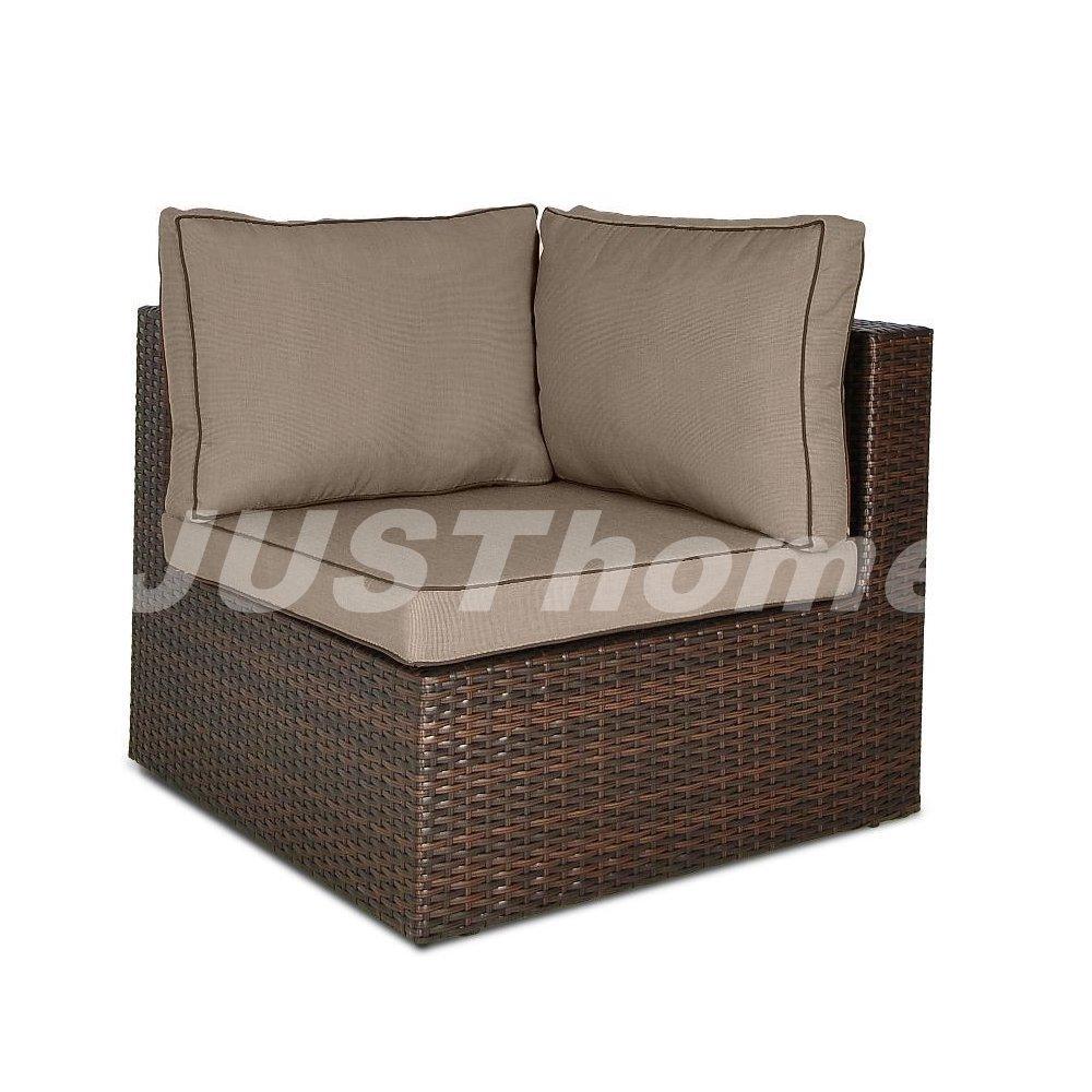 JUSThome Eckmodul Lounge Gartenmöbel RODOS (HxBxL): 66x78x78 cm Braun