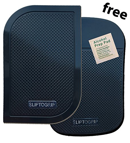 Premium Cell Pads by SlipToGrip TWIN PACK - Two Universal Cell Pads and Alcohol Pad. Sticky Anti-Slip GEL Pads - Holds Cell Phones, Sunglasses, Coins, Golf Cart, Boating, Speakers. REPORT SELLER if no SLIPTOGRIP trademark on Pad. (Sticky Pads For Dashboard compare prices)
