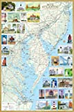 img - for Mid-Atlantic Lighthouses Illustrated Map & Guide Laminated Poster book / textbook / text book