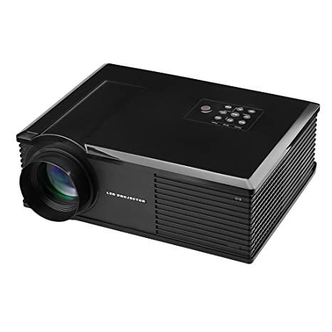 Excelvan PH580 Vidéoprojecteur HD Home Cinéma Multimédia Projecteur Théâtre LED LCD 720p 3200 Lumens HDMI / ATV / AV / USB / VGA /S Borne d'Entrée Audio