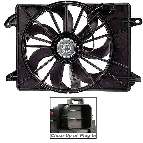 Apdty 732637 Radiator/Cooling Fan Assembly(Fits 2009-2012 Chrysler 300, 2009-2013 Dodge Challenger, And 2009-2013 Dodge Charger)With Single Fan, With Air Conditioning,Fits V8 5.7L, And V6 3.6L, 3.5L & 2.7L Engines,**Have Factory Part Number Run By Vin At