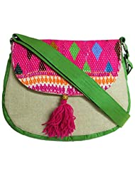 Stylocus - Ladies Sling Bag - Flapped Sling Bag - Embroidery Bag