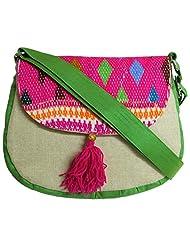 Stylocus - Ladies Sling Bag - Flapped Sling Bag - Embroidery Bag