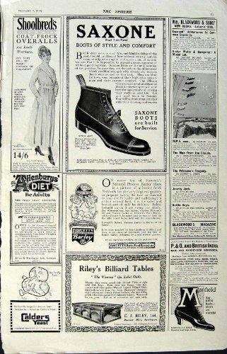 Una Stampa Antica dell'Alimento 1918 di Daimler delle Sigarette dello Stivale di Lotus della Pubblicità