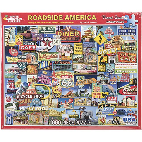 White Mountain Puzzles Roadside America - 1000 Piece Jigsaw Puzzle