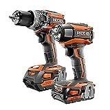 RIDGID R96171 GEN5X 18V Brushless Cordless Hammer Drill / 3-Speed Impact Driver Combo Kit (2-Tool) (Color: Orange, Tamaño: Medium)