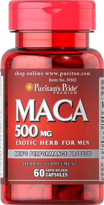 Puritans Pride Maca 500 mg-60 Capsules