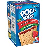 Pop-Tarts, (Not Frosted) Strawberry, 8-Count Tarts (Pack of 12) Net WT. 14.7 oz