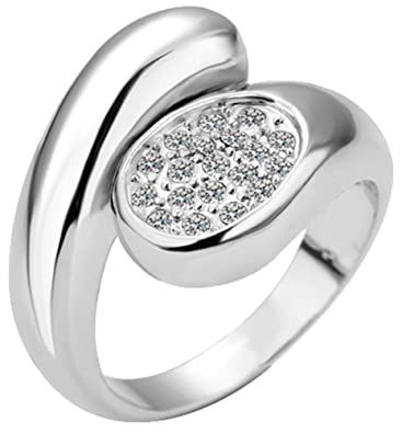YZQMY Women's Rounded Wedding Ring