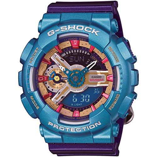 Casio - G-Shock - S Series - Auto-LED - Purple/Blue/Gold/Pink - GMAS110HC-6