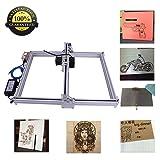 DIY CNC Laser Engraver Kits Wood Carving Engraving Cutting Machine Desktop Printer Logo Picture Marking, 40x50cm,2 Axis (500MW) (Color: Silver, Tamaño: 500MW 40CM*50CM)