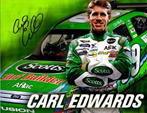 Buy AUTOGRAPHED 2010 Carl Edwards #99 Turf Builder Scott's Racing NASCAR Hero Card by Trackside Autographs