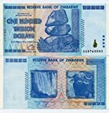 5 X Zimbabwe 100 Trillion Dollar 2008 Banknote Uncirculated in Sequential Number