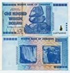 5 X Zimbabwe 100 Trillion Dollar 2008...