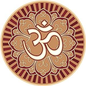 Amazon.com: OM AUM SYMBOL IN LOTUS FLOWER PEACE SERENITY YOGA RED